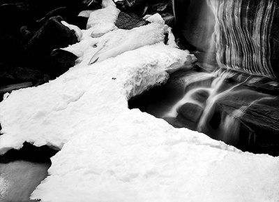 Ice and Flowing Water 1
