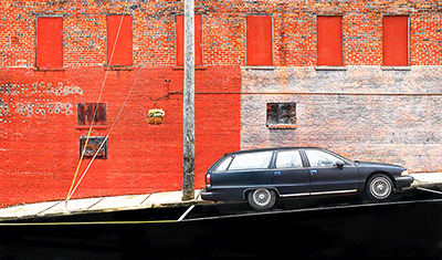 Street Detail With Car-Rutherfordton
